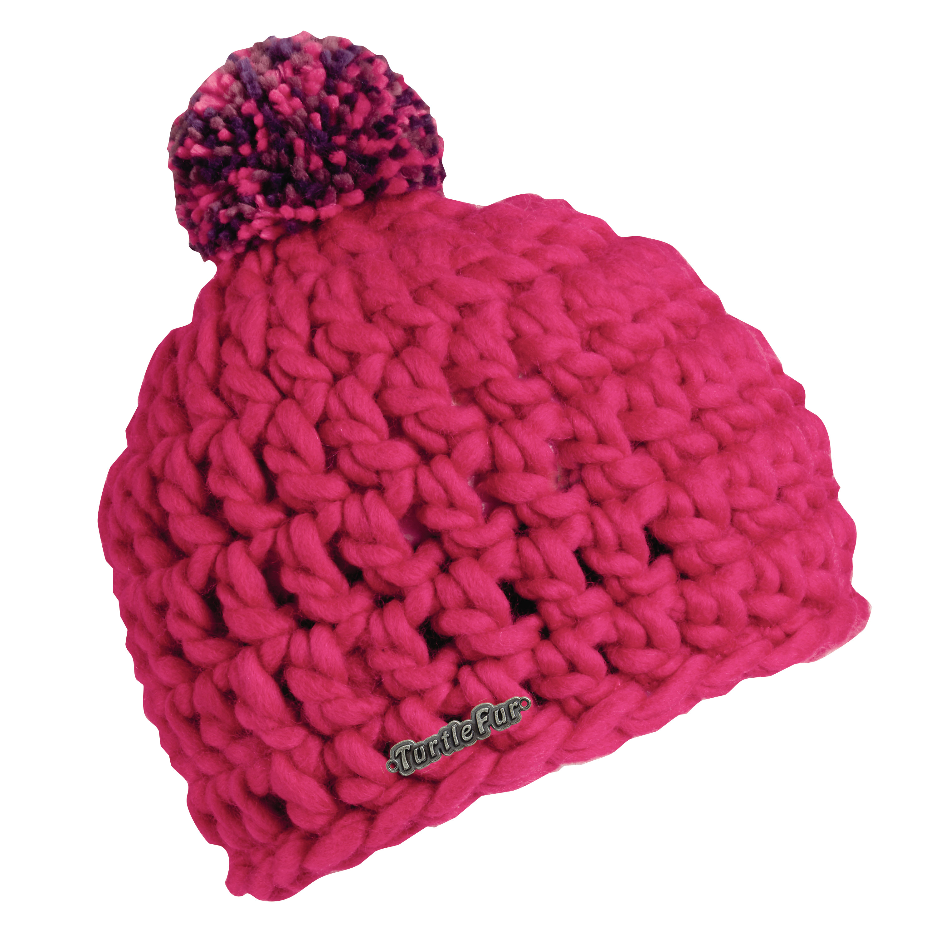 Turtle Fur Rove Women's Wool Blend Crocheted Pom Winter Hat