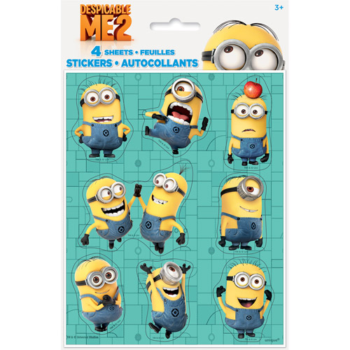 Minion Party Stickers (4 sheets)