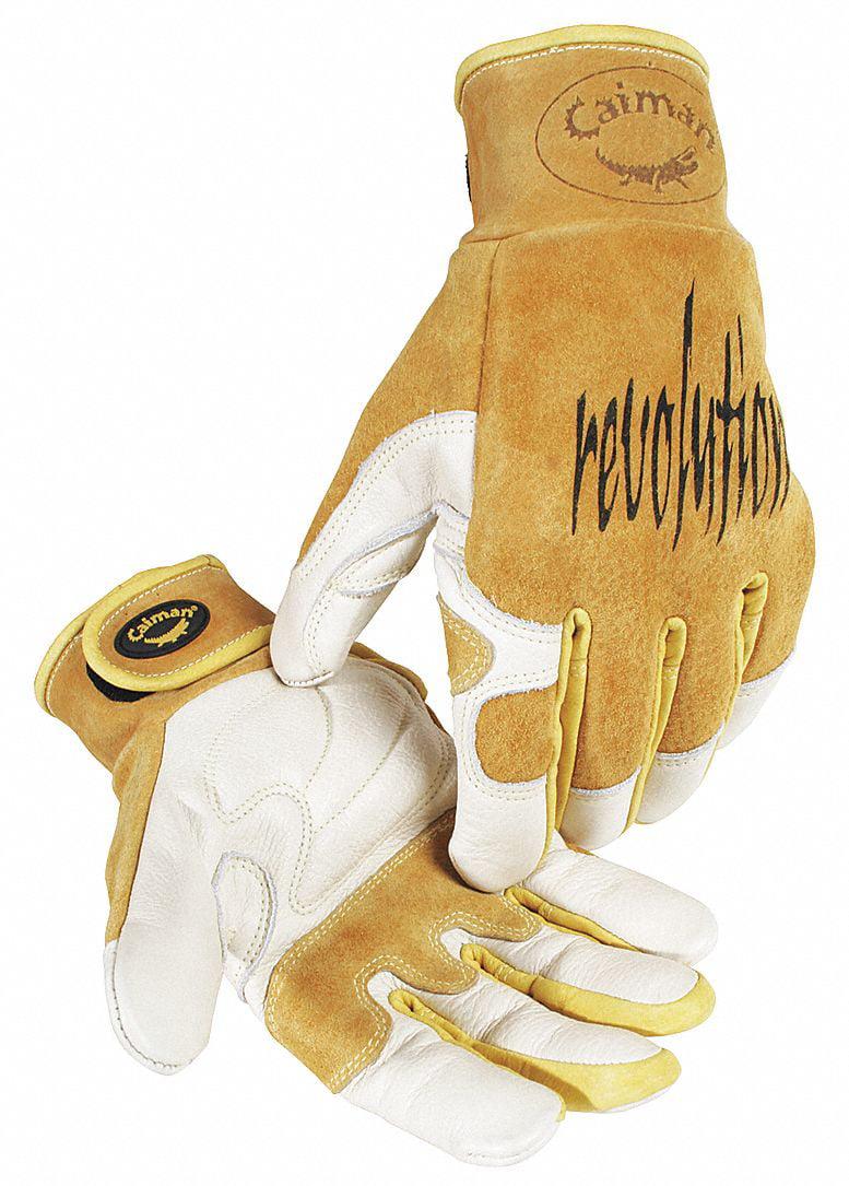 "CAIMAN Welding Gloves,TIG,9"",M,PR 1828-4"