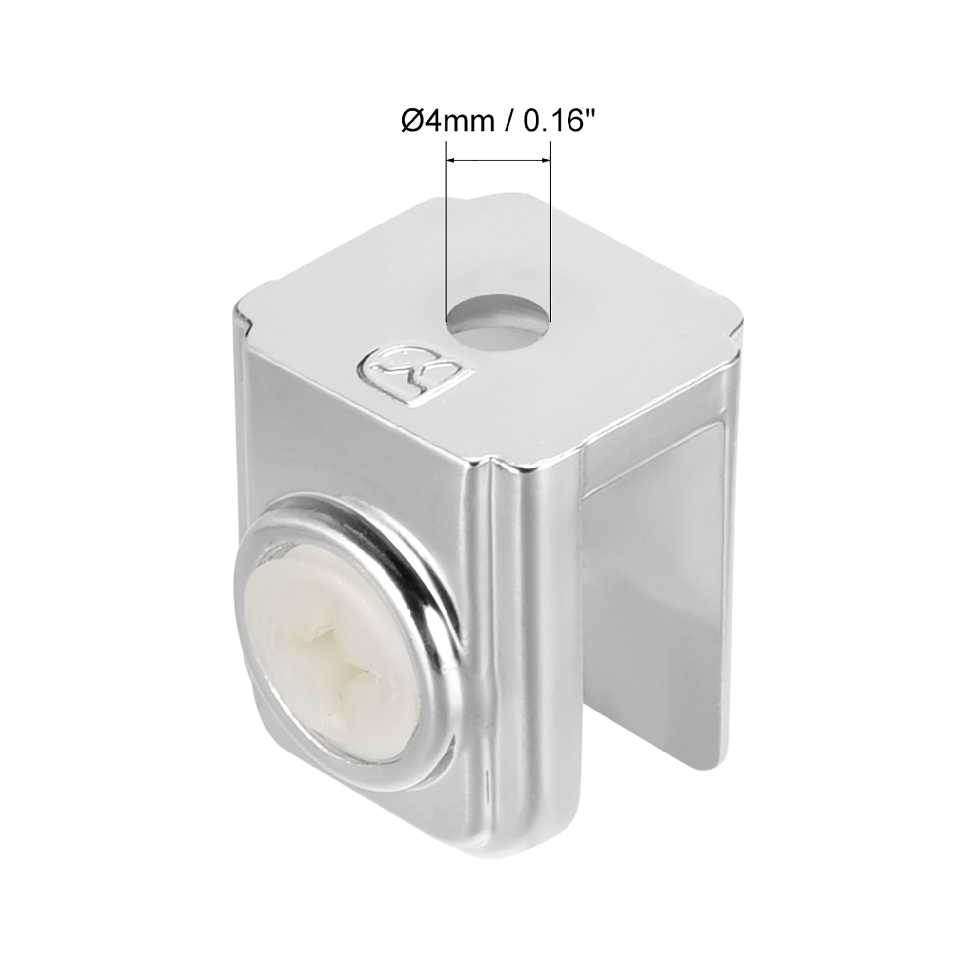 Glass Shelf Brackets - Adjustable Zinc Alloy Glass Clamp Clip Holder for 5-8mm Thick, Type-06, 10 Pcs - image 1 de 4