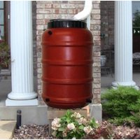 50 Gallon Terra Cotta Rain Barrel
