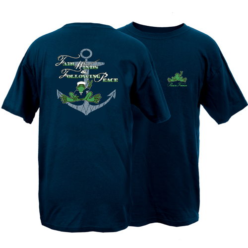 Peace Frogs Adult Fair Winds Frog Short Sleeve T-Shirt