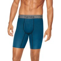 Deals on 5 Pack Hanes Mens Comfort Flex Fit Long Leg Boxer Briefs