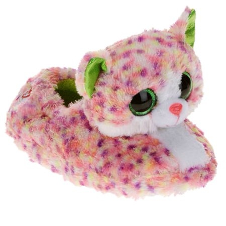 Beanie Boos - Ty Beanie Boos Girls Pink Leopard Kitty Cat Sophie Slippers  House Shoes - Size - Small (13-1) - Walmart.com 6ecb3de6a458