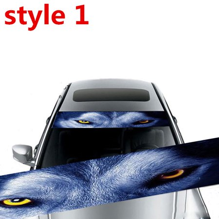 Windshield Car Decals (3D Transparent Car Front Windscreen Windshield Window Decal Vinyl Sticker style)