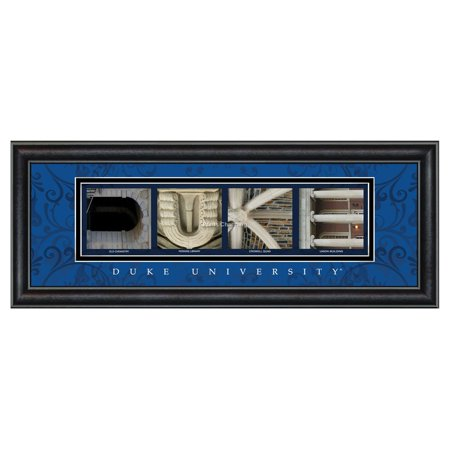 Framed Letter Wall Art - Duke University - 20W x 8H in.