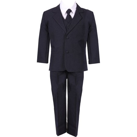 Baby Boys Navy Blue 5 Piece Vest Jacket Pants Special Occasion Suit - Boys Navy Blue Suit