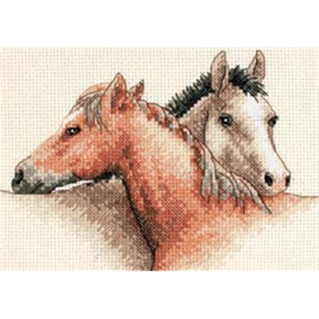 316282 Horse Pals Mini Counted Cross Stitch Kit-7 in. x 5 in.