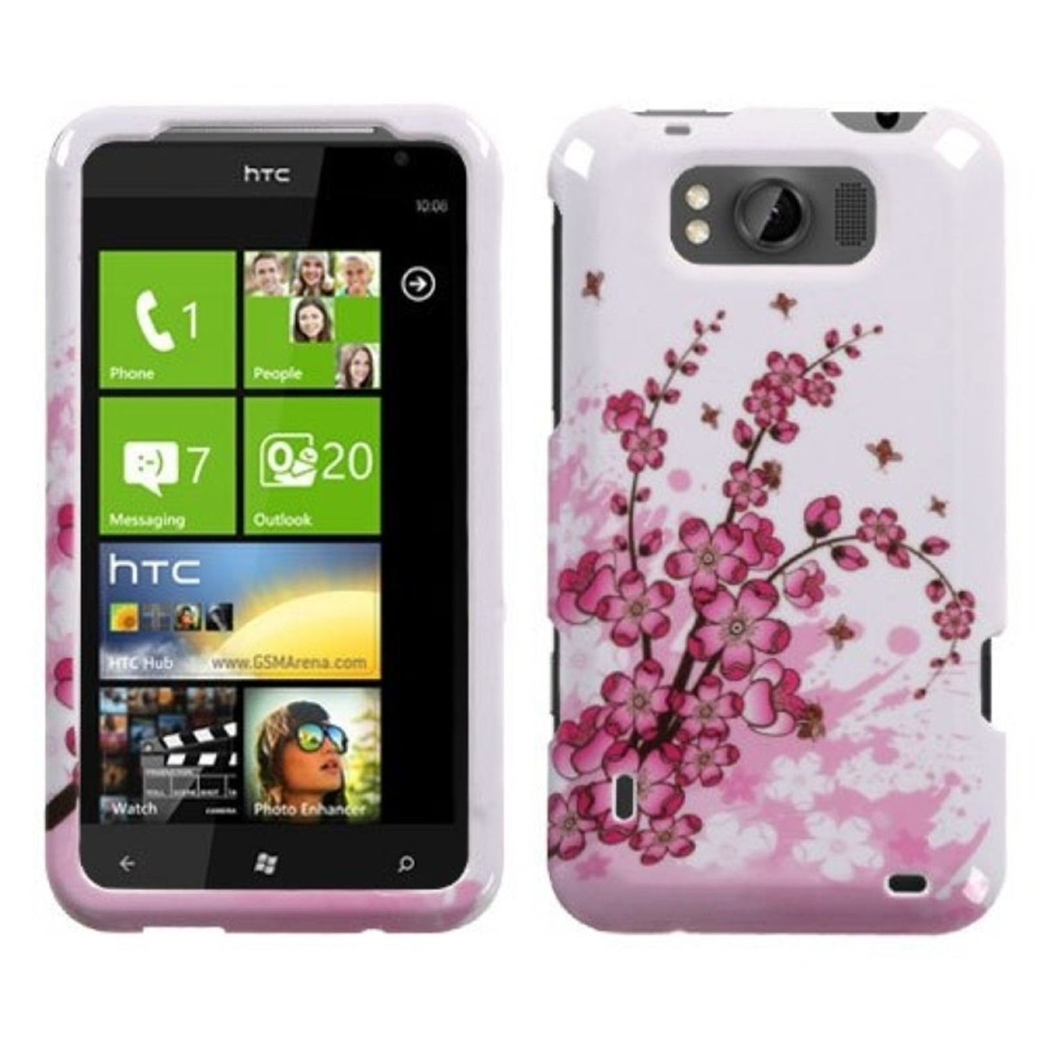 Insten Spring Flowers Phone Case for HTC: X310a (TITAN)