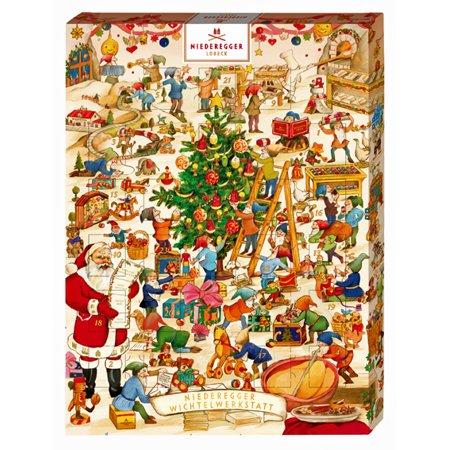 Niederegger Marzipan Wichtelwerkstatt Advent Calendar, 500G/17.6 oz