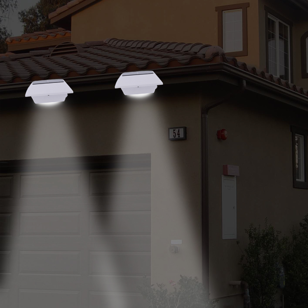 4 LED High Brightness Solar Power Garden Security Lamp Outdoor Waterproof wall Lights led lamps For Home Outdoor