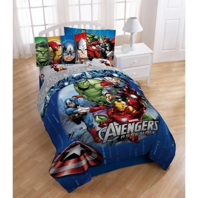 Disney Marvel Avengers Assemble 4pc Twin Bedding Comforte...