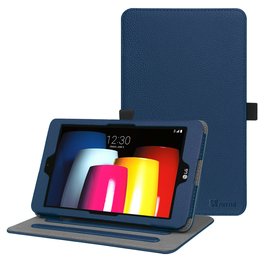 Fintie Case for T-Mobile LG G Pad X2 8.0 Plus Model V530 Tablet - Multi-Angle Viewing Folio Stand Cover, Blue