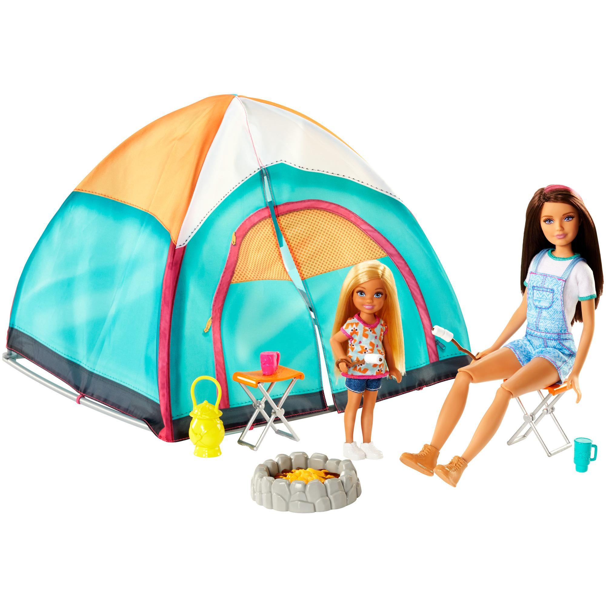 Barbie Camping Fun Skipper Doll & Chelsea Doll Camping Set by Mattel