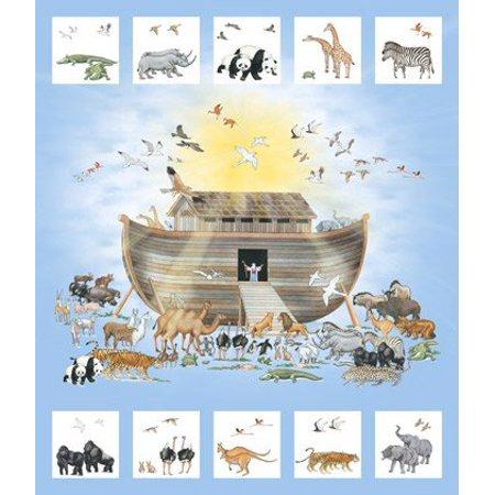 Noah's Ark Digital Panel ~ 36 x 42''-DP21499-42 Cotton Fabric by Northcott