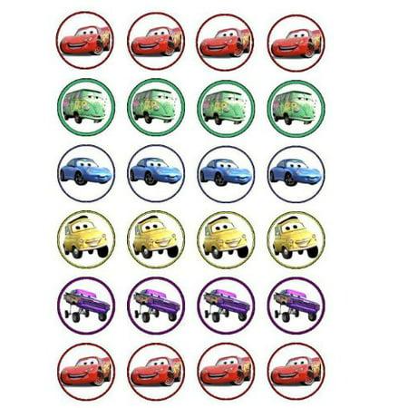 24 Disney Cars Cupcake Toppers (Disney Cupcakes)