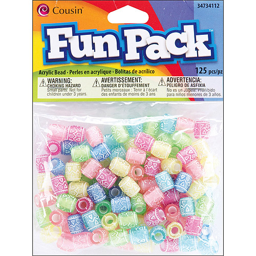 Cousin Fun Pack Acrylic Pony Beads, 125pk