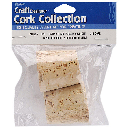 "Cork Collection Stoppers, #18, 1.57"" x 1.5"", 2/Pkg"