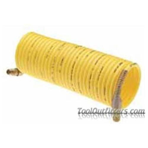 """Amflo 4-25-RET Standard Recoil Hose, 1 4"""" X 25', Yellow, Display Pack by Amflo"""