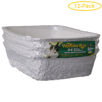 Kitty Wonder Box Litter Pan / Liner 3 Pack - 17L x 12W x 4.5H - Pack of 12