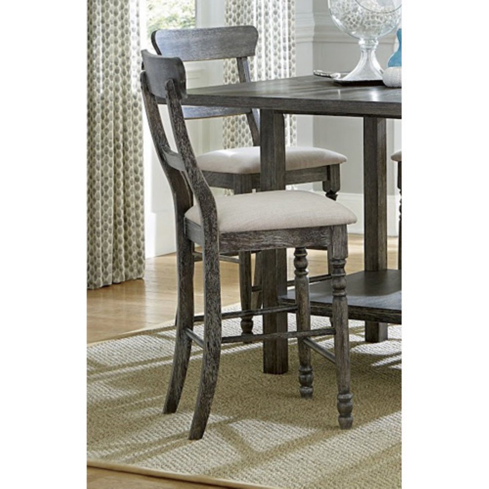 Progressive Furniture Muses Ladder Back Counter Height Dining Chair - Set of 2
