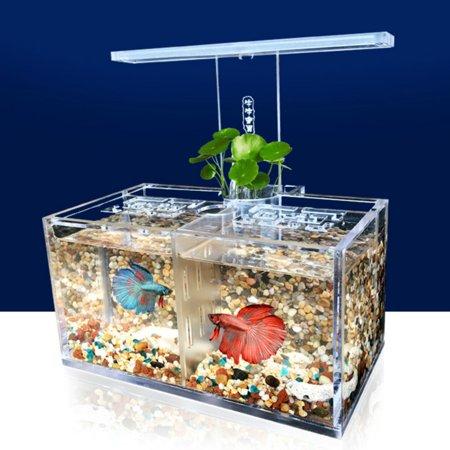 Fish & Aquariums Pet Supplies Desktop Aquarium Mini Tank With Led Water Pump Fish Bowl 3d