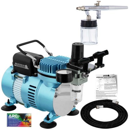 New SIPHON SUCTION FEED Dual-Action AIRBRUSH AIR COMPRESSOR SYSTEM KIT Gift Set (Airbrush Air Compressor)