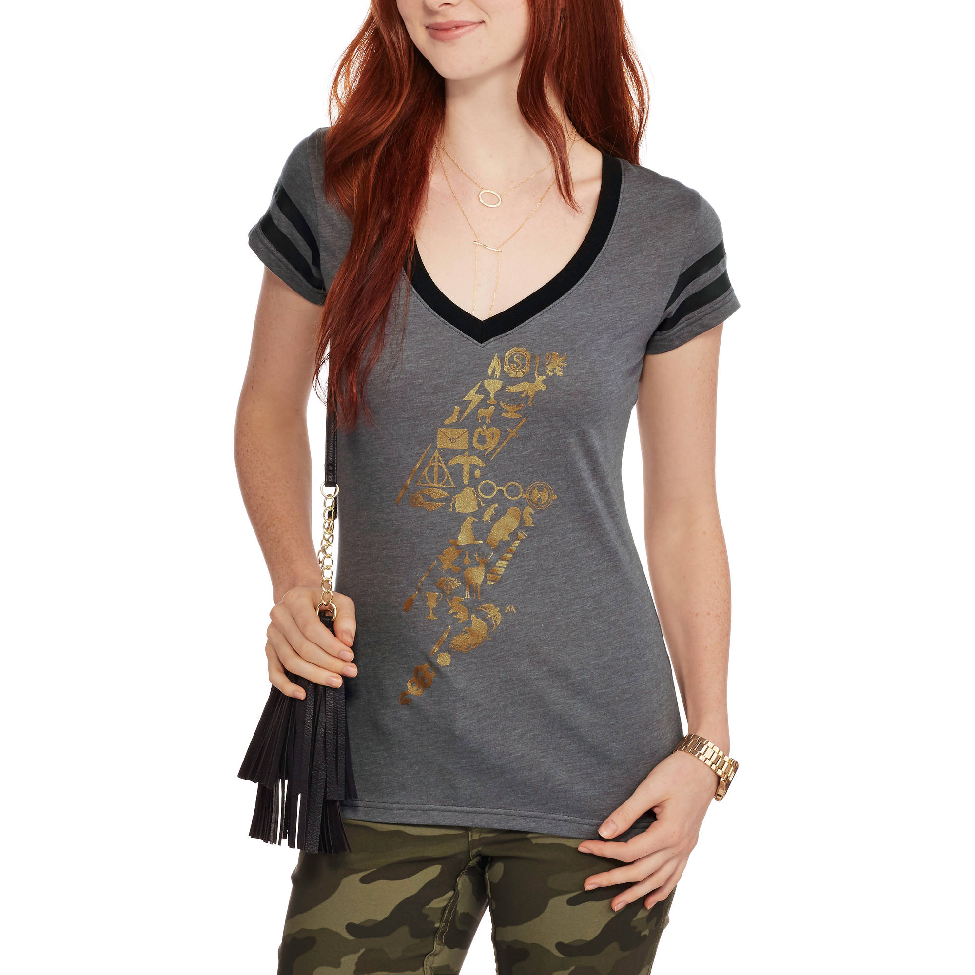 Harry Potter Juniors Stone Chamber Prisoner Graphic V-Neck Tee