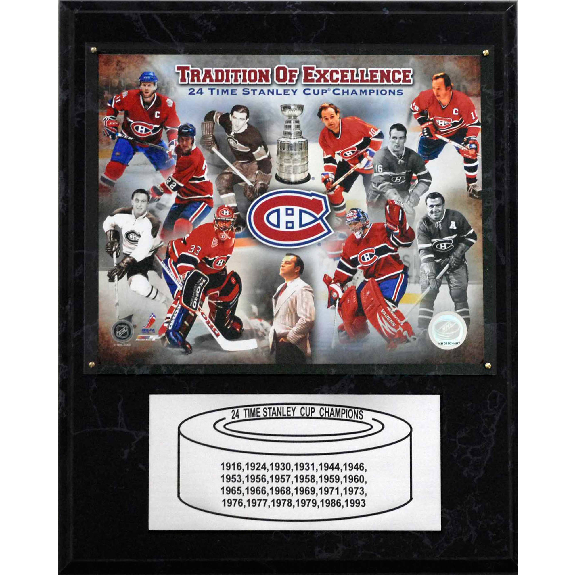 C&I Collectables NHL 12x15 Montreal Canadiens 24-Time Stanley Cup Champions Plaque by C & I Collectables