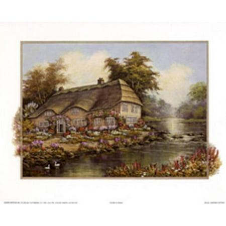 Riverside Cottage I Mini Poster - 20x20