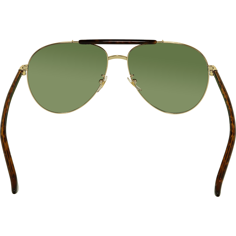 a09c8f6b1be Gucci - Gucci GG0014S-006-60 Gold Aviator Sunglasses - Walmart.com