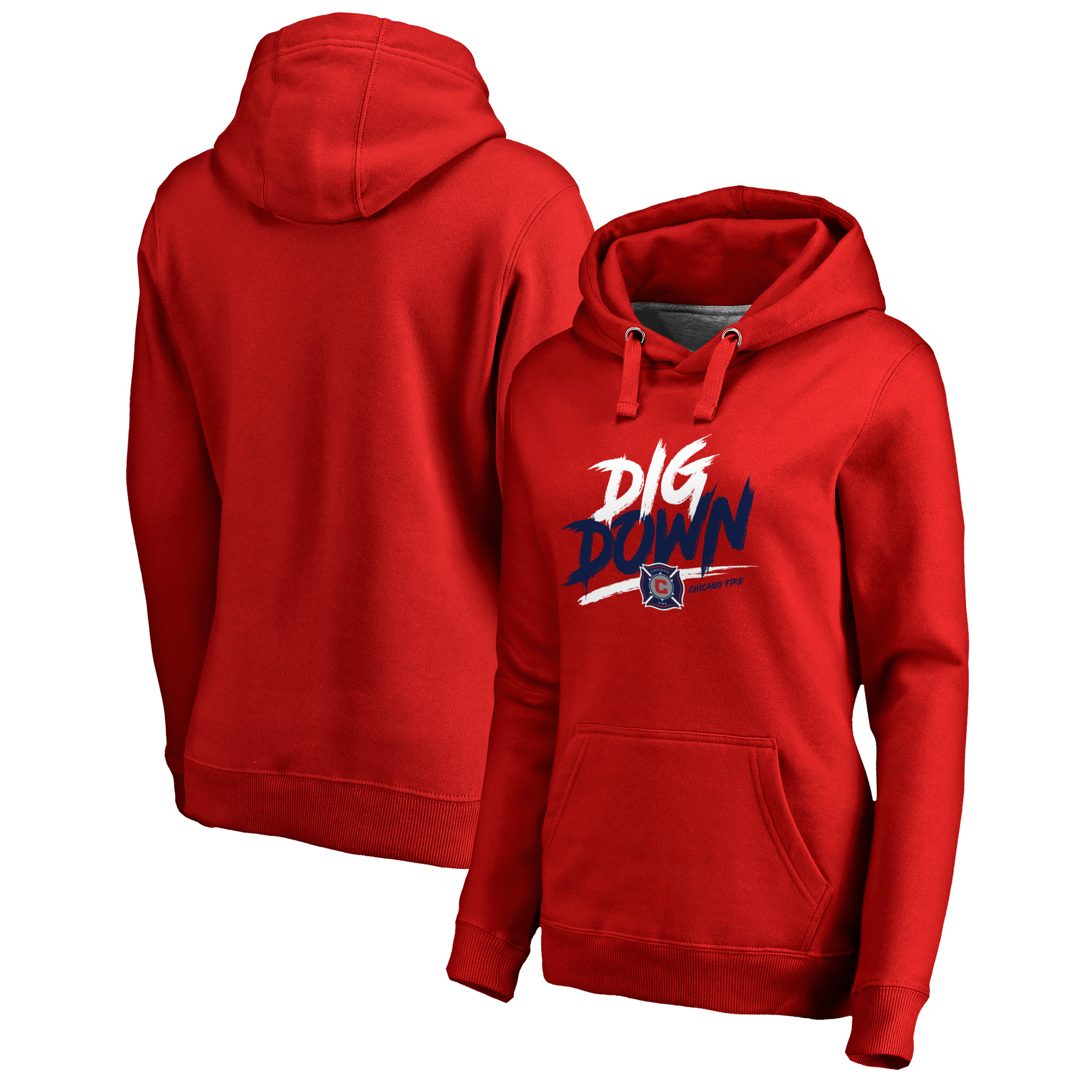 Chicago Fire Fanatics Branded Women's Dig Down Pullover Hoodie - Red