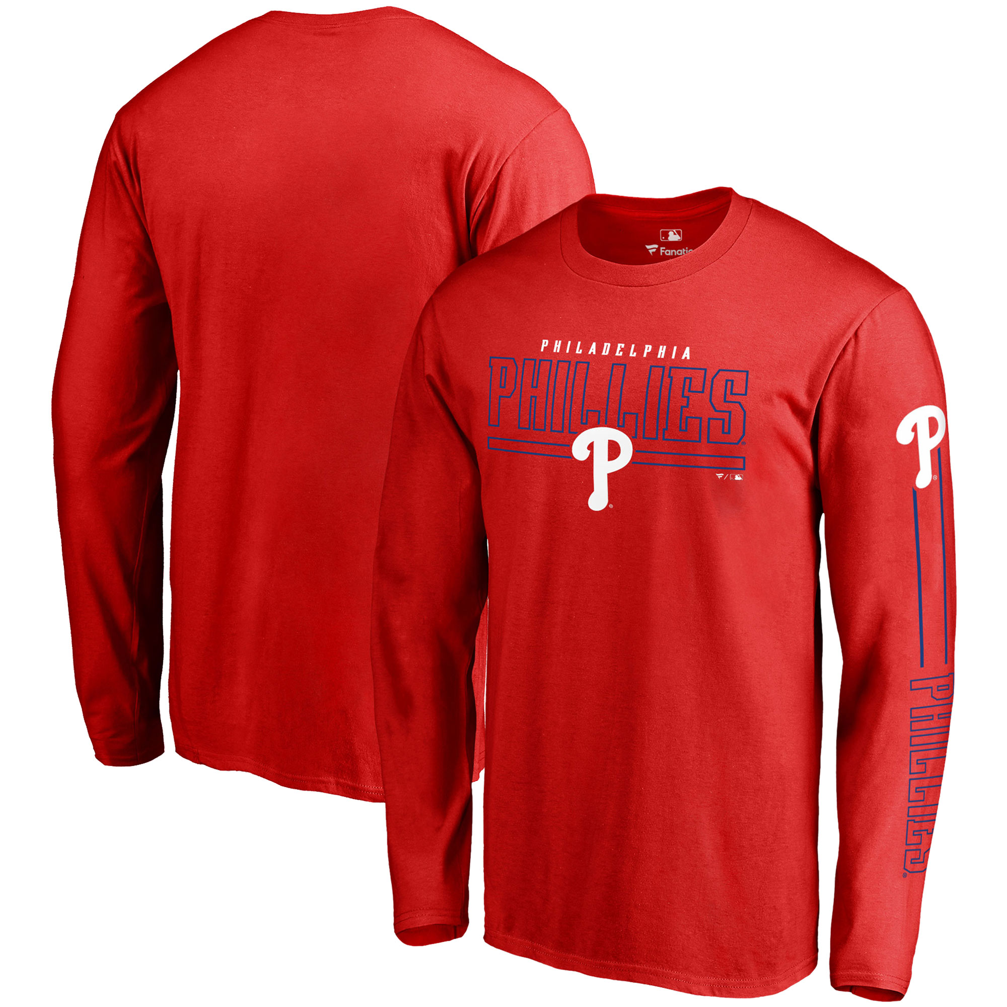 Philadelphia Phillies Fanatics Branded Front Line Long Sleeve T-Shirt - Red