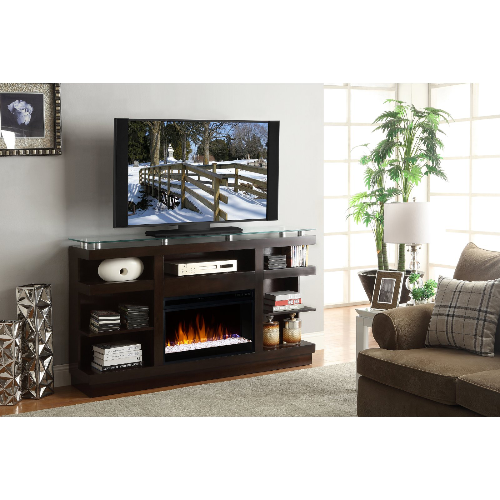 Legends Furniture Novella 65 in. Electric Media Fireplace
