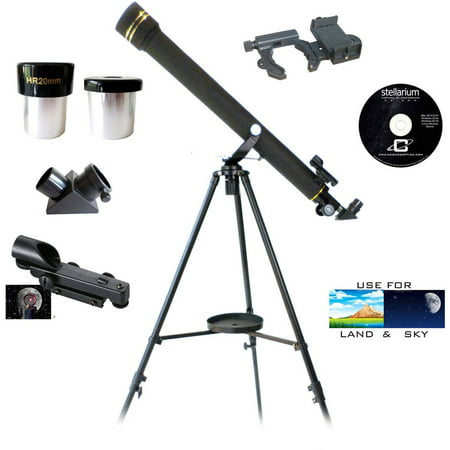 Galileo SS-760 700mm x 60mm Astronomical and Terrestrial Refractor Telescope and Smartphone Photo (Best Telescope With Smartphone)