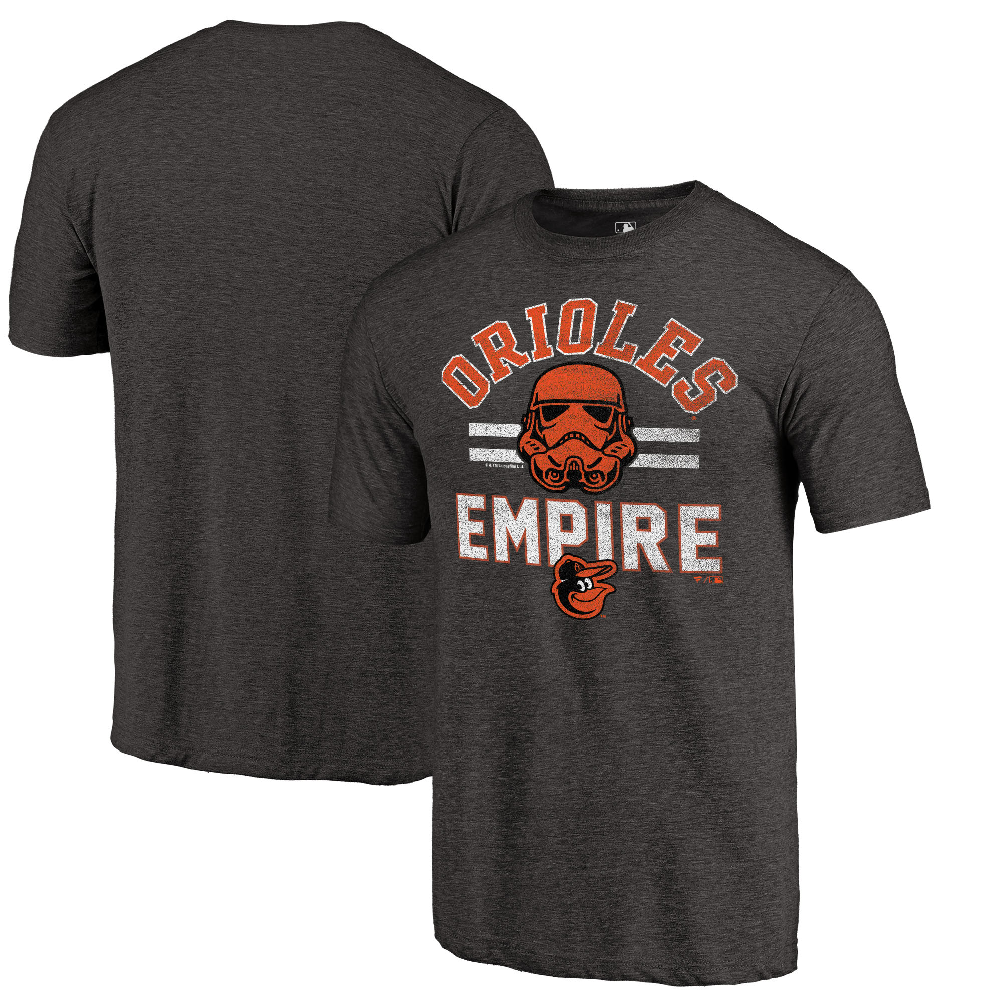 Baltimore Orioles Fanatics Branded MLB Star Wars Empire Tri-Blend T-Shirt - Black
