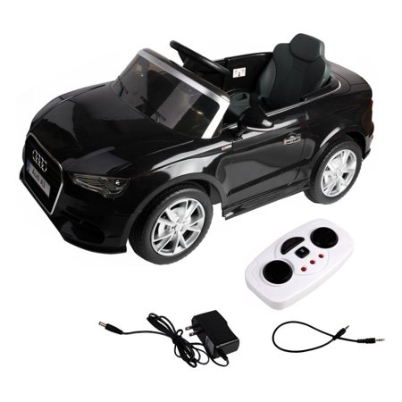 12 V Audi A3 Kids Ride on Car with RC + LED Light + Music - Red