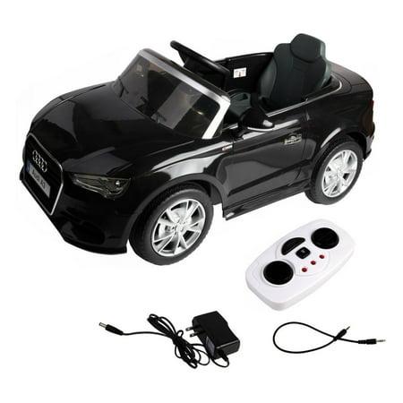 12 V Audi A3 Kids Ride on Car with RC + LED Light + Music -