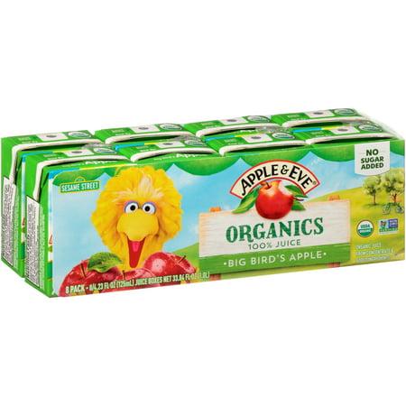 Apple & Eve® Organics Big Bird's Apple 100% Juice 8-4.23 fl. oz. Cartons 100% Pure Organic Peach