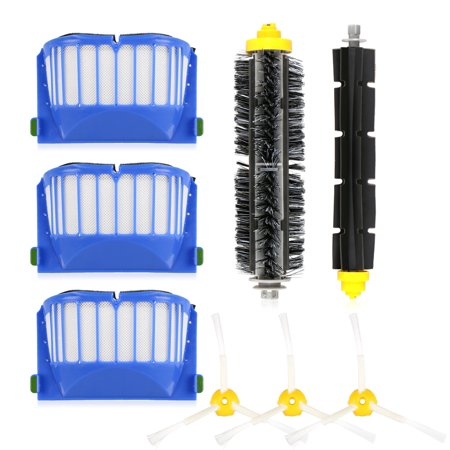 Replacement Parts Kit Including Bristle & Flexible Beater Brush & Armed-3 Side Brush & Filters Fit for Roomba 528 529 600 Series Vacuum Cleaner