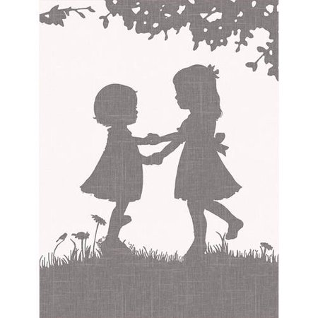 - Oopsy Daisy - Sisters Dance Reversed Canvas Wall Art 18x24, Patti Rishforth