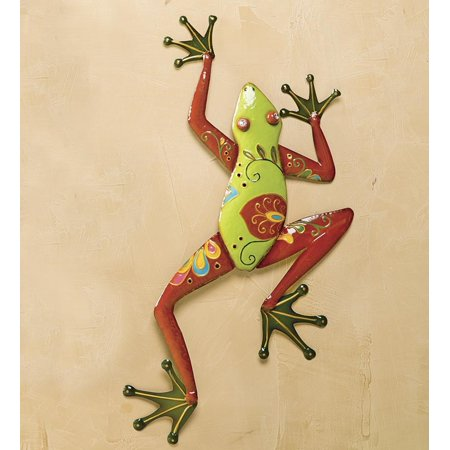 Talavera Painted Metal Frog Wall Art - Walmart.com