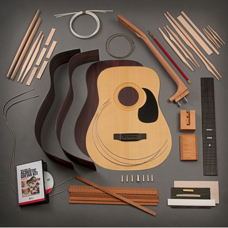 Rosewood Dreadnought (StewMac Build Your Own Dreadnought Acoustic Guitar Kit, Bolt-on Neck, Torrefied Top, Indian Rosewood Back &)