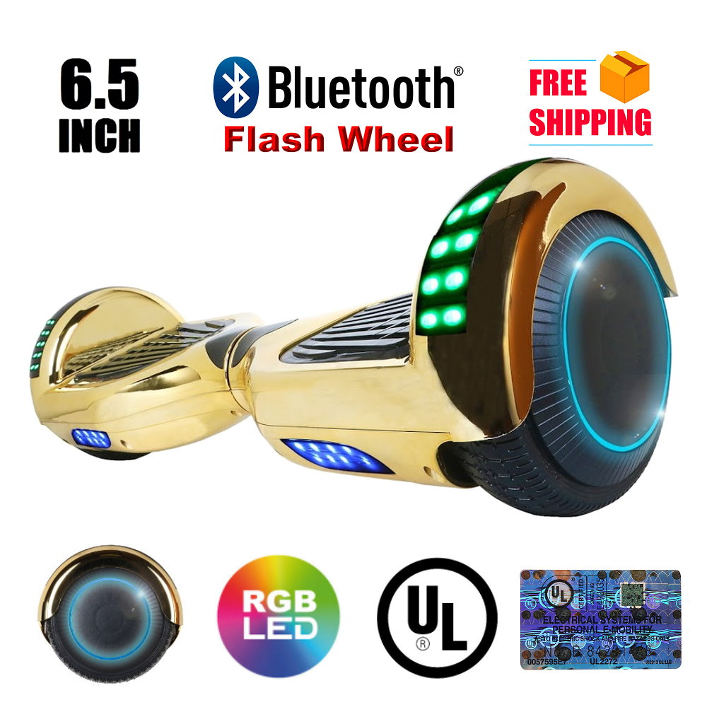 """UL2272 Certified Bluetooth TOP LED 6.5"""" Hoverboard Two Wh..."""