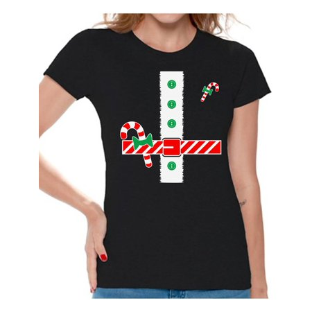 Awkward Styles Christmas Tuxedo Shirt for Women Awkward Styles Tuxedo Shirt for Ladies Santa's Helper Funny Elf Holiday Party T-Shirt Xmas Gifts for Her Christmas Tee - Womens Tuxedo T Shirt
