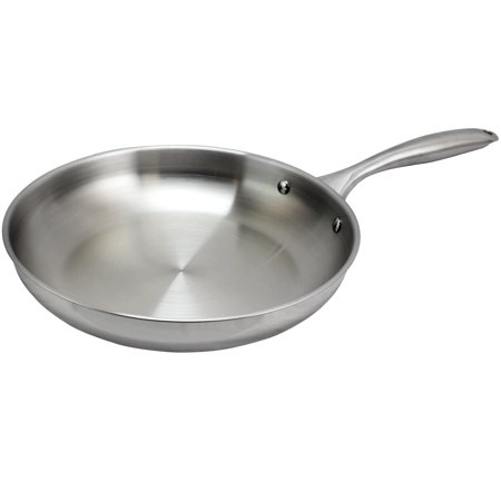 Oster Cuisine Saunders 10 inch Stainless Steel Frying Pan - Walmart.com 12b61dfb554d
