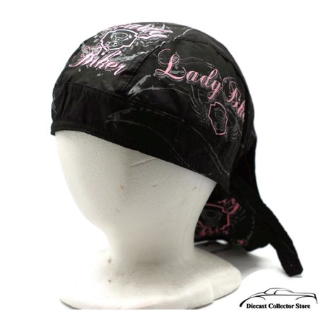 Bandana Headwrap DANBANNA DELUXE LADY BIKER Du-Rag Skull