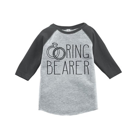 Custom Party Shop Ring Bearer Kids Wedding Raglan Tee - Small (6-8) T-shirt