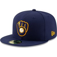 Milwaukee Brewers New Era Alternate 2 Authentic Collection On-Field 59FIFTY Fitted Hat - Navy