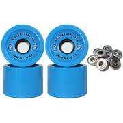 BIGFOOT HIGH REBOUND WHEELS STALKER Longboard Wheels 70mm BLUE 81a